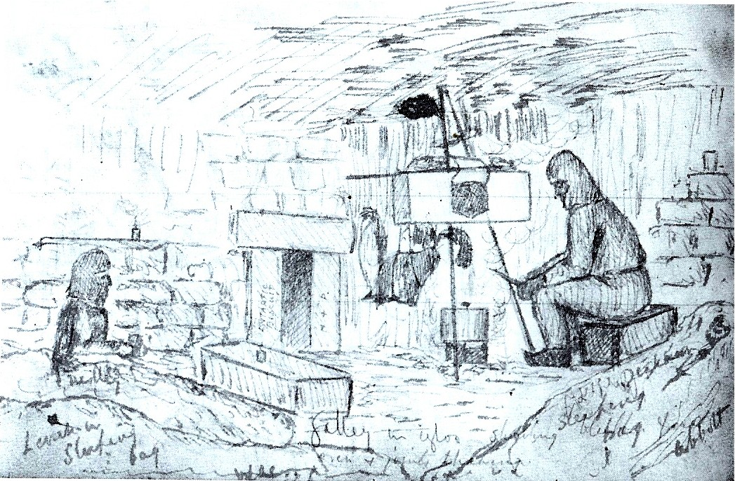 Victor Campbell sketch - ice cave